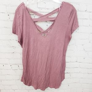 3/$18or5/$25 Love J Strappy Mauve Tee
